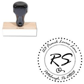 Rage Italic Personalized Initial Address Stamp