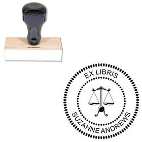 Arial Personal Round Rubber Stamp