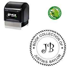 PSI Curlz Personal Round Rubber Stamp