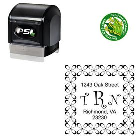Pre-Inked Curlz Monogram Address Stamp
