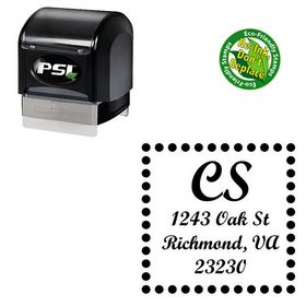 Pre-Ink Script Bold Custom Address Monogram Stamp