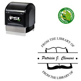 PSI Pre-Ink Brush Script Customized Monogramed Stamps