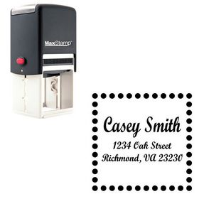 Self Inking Script Bold Personalized Monogram Address Stamp