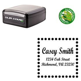 Compact Script Bold Personalized Monogram Address Stamp