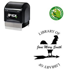 PSI Pre-Inked Brush Script Personalized Monogramed Stamps