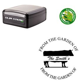 Portable Brush Script Custom Made Name Stamp