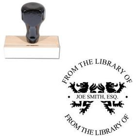 Times New Roman Personalized Monogrammed Rubber Stamp
