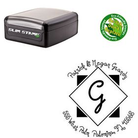 Portable Jandles Personalized Monogram Rubber Stamp