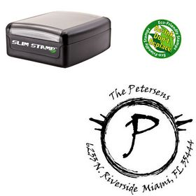 Slim Pre-Ink Viner Hand Personal Rubber Initial Stamp