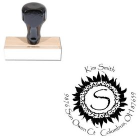 Papyrus Custom Made Round Rubber Stamp