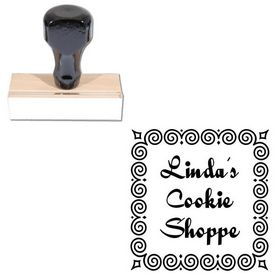 Quigley Wigley Personalized Round Rubber Stamp