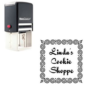Self-Inking Quigley Wigley Personalized Round Rubber Stamp