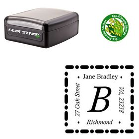 Slimline Pre-Inked Calisto Address Monogram Stamp
