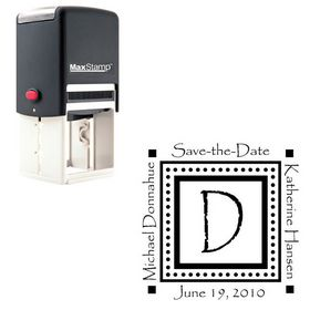 Self Inking Papyrus Custom Made Wedding Monogram Stamp