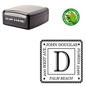 Compact Imprint Shadow Customized Rubber Initial Stamp