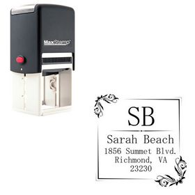 Self Inking Mincho Personalized Monogramed Stamp