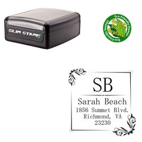 Slim Pre-Inked Mincho Personalized Monogramed Stamp