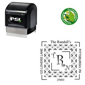 Pre Ink Curlz Personalized Wedding Monogram Stamp