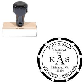 Imprint Shadow Wedding Monogram Stamp