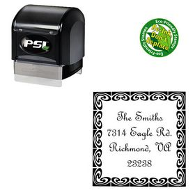 PSI Pre Inked French Script Custom Monogram Address Stamp