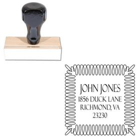 Felix Titling Personalized Address Monogram Stamp