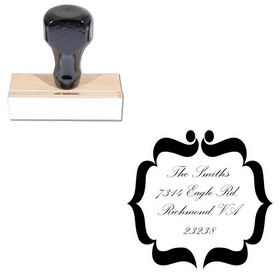 Palace Script Personalized Address Monogram Stamp
