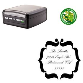 Compact Palace Script Personalized Address Monogram Stamp