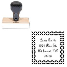 French Script Personalized Name Stamp