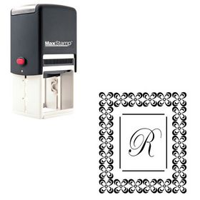 Self-Inking Edwardian Script Customized Initial Stamp