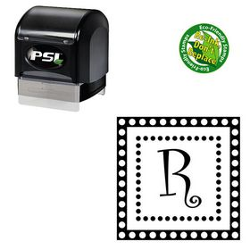 Pre-Ink Curlz Rubber Initial Stamp