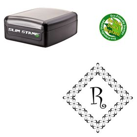 Portable Curlz Initial Rubber Stamp