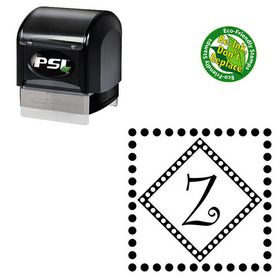 Pre-Ink Curlz Personal Initial Address Stamp