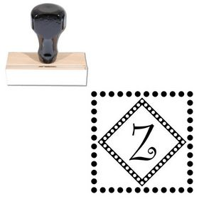 Curlz Personal Initial Address Stamp