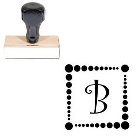 Curlz Customized Initial Rubber Stamp