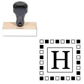Square Georgia Personalized Monogram Stamper