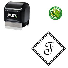 PSI Pre-Ink French Script Custom Made Initial Rubber Stamp