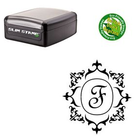 Portable French Script Custom Monogrammed Letter Stamp