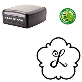 Slim Pre-Inked Gigi Personalized Round Rubber Stamp