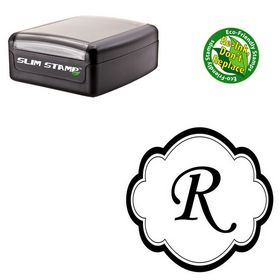 Slim Pre-Ink Montype Corsiva Personalized Monogram Stamp