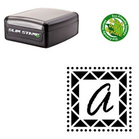 Slim Pre-Ink Rage Italic Custom Monogram Stamp