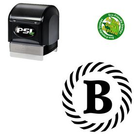 PSI Pre-Ink Schneidler Custom Made Monogram Initial Stamp