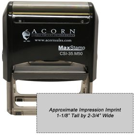 Self Inking Stamp M50 Size 1-1/8 x 2-3/4