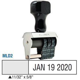 Local Date Stamp Size 11/32 x 5/8