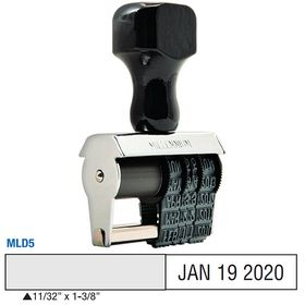 Local Date Stamp Size 11/32 x 1-3/8