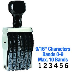 Regular Line Number Stamp 9/16 Character Size