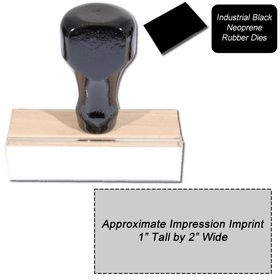 Regular Black Neoprene Rubber Stamp Size 1 x 2