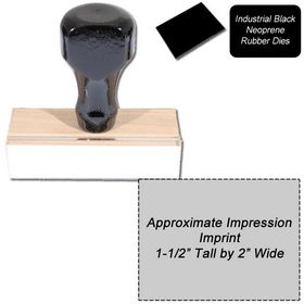 Regular Black Neoprene Rubber Stamp Size 1-1/2 x 2