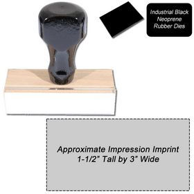 Regular Black Neoprene Rubber Stamp Size 1-1/2 x 3