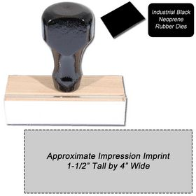 Regular Black Neoprene Rubber Stamp Size 1-1/2 x 4