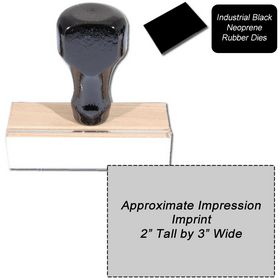 Regular Black Neoprene Rubber Stamp Size 2 x 3